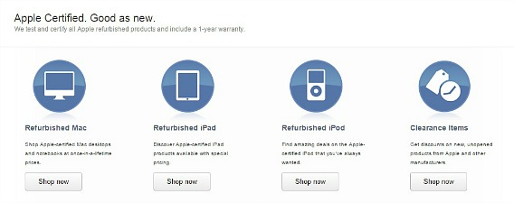 Shopping for an Apple product Refurbished and Clearance Mac, iPad & iPod Products At Cheaper Price in Apple Store