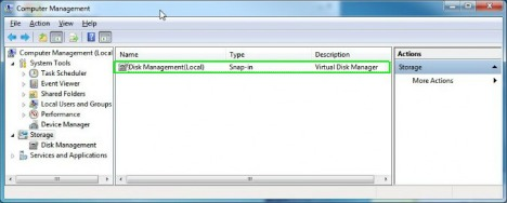 navigate disk management tool
