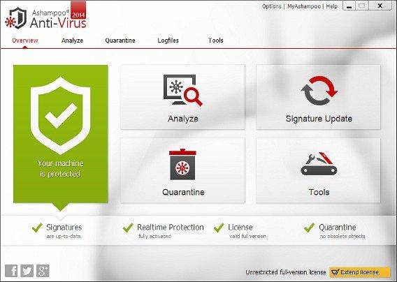 Ashampoo AntiVirus 2014 Free Full Version Download With License Serial Key