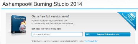 Ashampoo Burning Studio 2014 Free Version License Serial Key Free Download 1