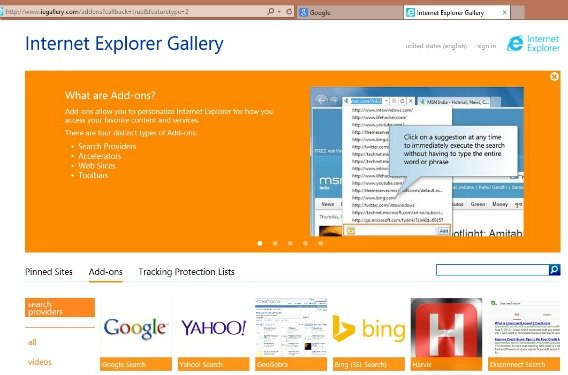 How to Disable, Remove or Hide Internet Explorer 11 Search Box