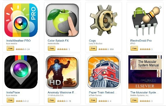 Amazon Appstore Free $220 Worth of Paid Apps and Games via Amazon's Appstore Christmas bundle