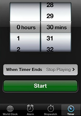 How To Set A Sleep Timer on iPhone To Automatically Stop Music Playback - When Timer Ends