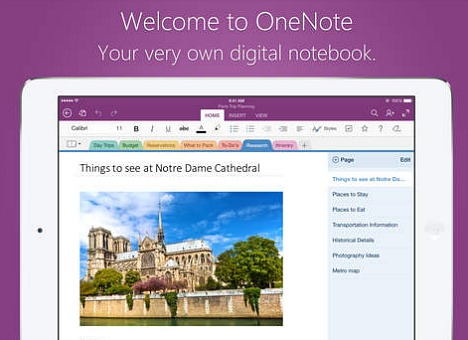 Microsoft OneNote for iPad Free Download