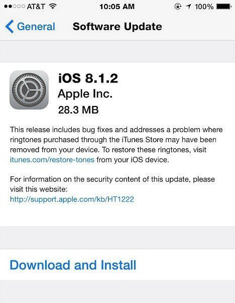 iOS 8.1.2 Update For iPhone, iPad, iPod touch With Bug Fixes (IPSW Direct Download Links)