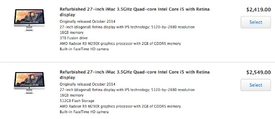Apple Offers  Refurbished Retina 5K iMac For $2,119 From Apple's Online Refurbished Store