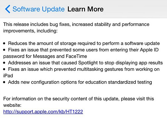Apple Releases iOS 8.1.3 Update