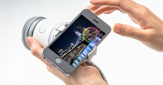 Olympus Air A01 Wireless Base Lens Camera Attach With Smartphone