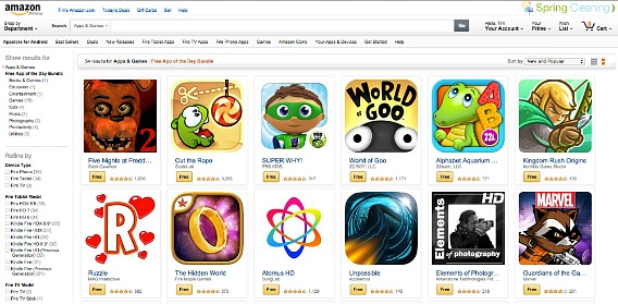 Amazon Offer $105 Worth of 34 Android Apps and Games For Free