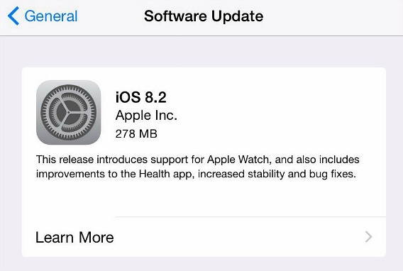 iOS 8.2 Direct Download Link for iPhone, iPad, and iPod touch and Full Changelog Lists