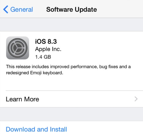 iOS 8.3 for iPhone, iPod touch and iPad Released for Download