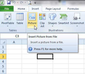 How to Insert a Picture Into a Cell in Excel 2003