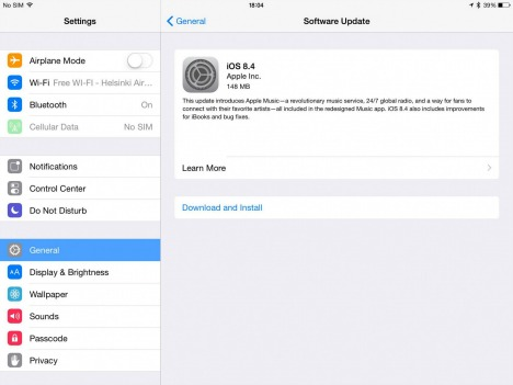 Apple iOS 8.4 Released For iPhone, iPad, and iPod touch with Apple Music, Beats 1 (What's new in iOS 8.4 and IPSW Links For iOS 8.4)