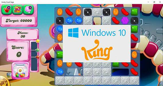 Candy Crush Saga Available For Windows 10 Pre-installed