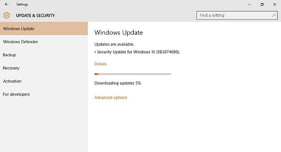 Download and Install Windows 10 Build 10240 Update