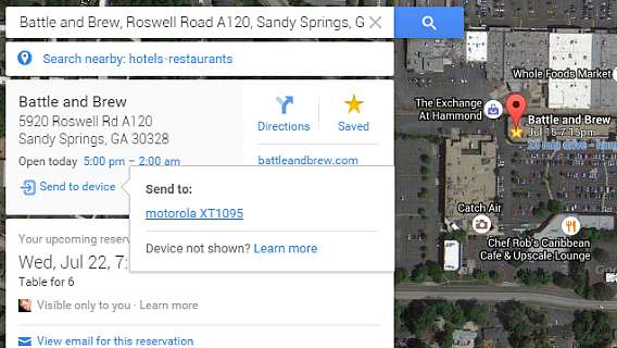 Google Maps Can Now Let You Send Directions From Desktop to Android