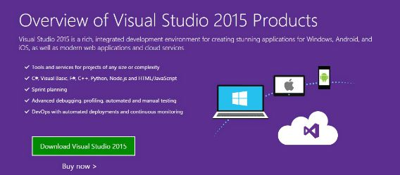 Microsoft Visual Studio 2015 and .NET 4.6 framework Available For Download (Download Link)