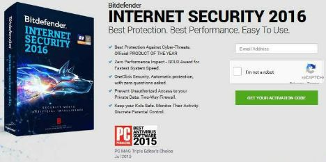 BitDefender Internet Security 2016 Free Download With 180 days Genuine License Key Code
