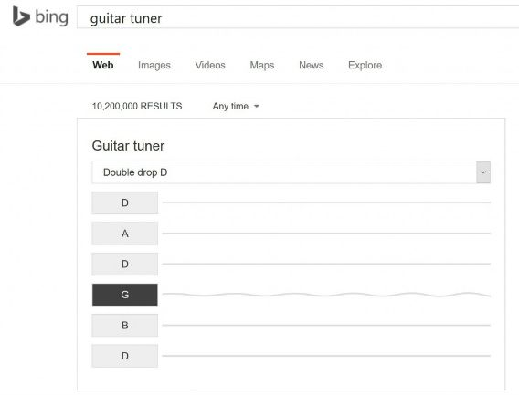 Microsoft Bing Guitar Tuner and Metronome Now Let Musicians Tune Guitar More Handy