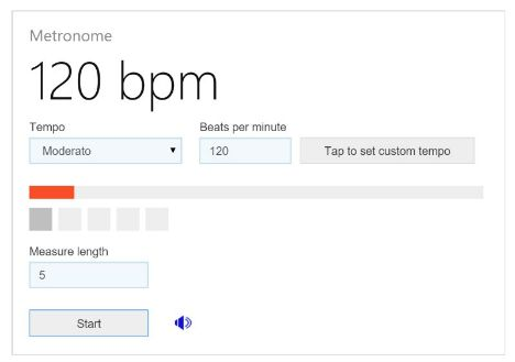 Microsoft Bing Metronome Now Let Musicians Tune Guitar More Handy