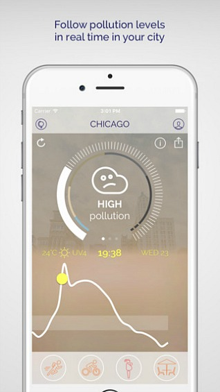 Weather Forecasting App For Urban Air Pollution - Plume Air Report for iOS and Android