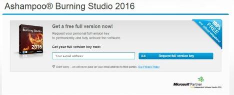 Ashampoo Burning Studio 2016 Free Full Version Genuine License Key