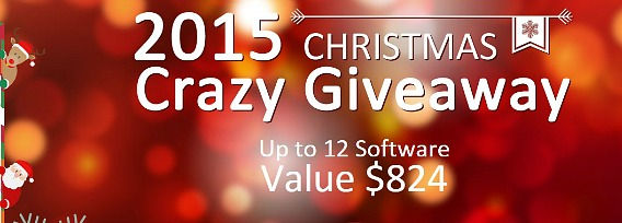 Free Download 12 Multimedia Software (Worth $824) For 2015 Christmas Gift Giveaway