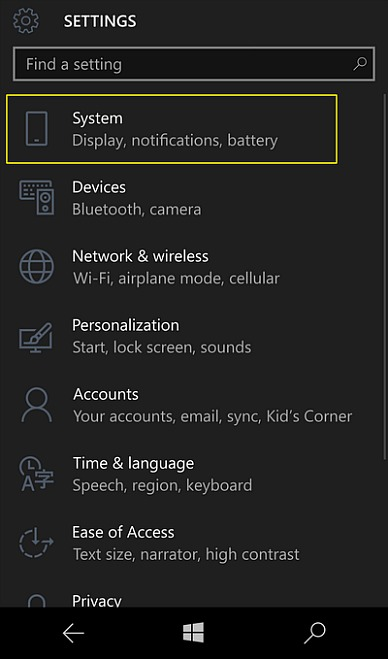 How To Enable Or Turn On Windows 10 Mobile Device Encryption (Complete Guide) settings main