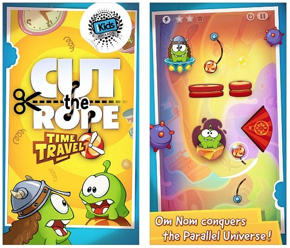 Cut The Rope Time Travel For iPhone and iPad For Free Download [Limited Time Only]