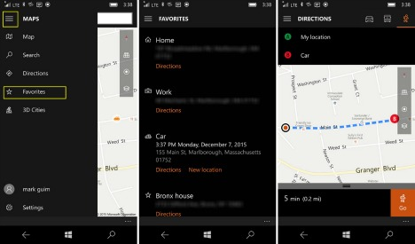 How To Mark or Find Your Parked Car Using the Maps App on Windows 10 Mobile