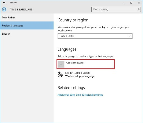 How to change the system language entire Windows 10 PC region-langauge-windows-10