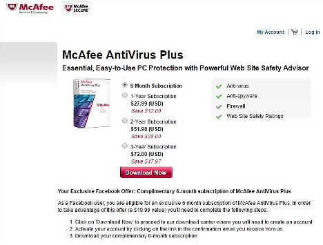 McAfee AntiVirus Plus 2016 Free Download With 6-Months Subscription Genuine License Serial Key