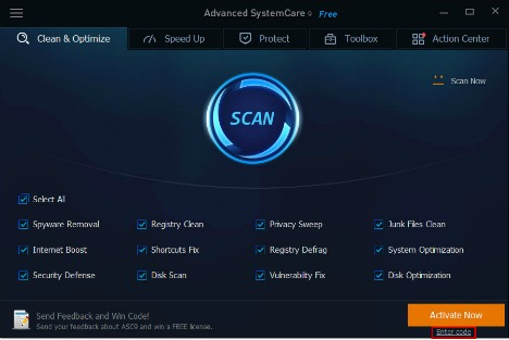 Advanced SystemCare 9 Free Download With 1 Year Genuine License Serial Key activate