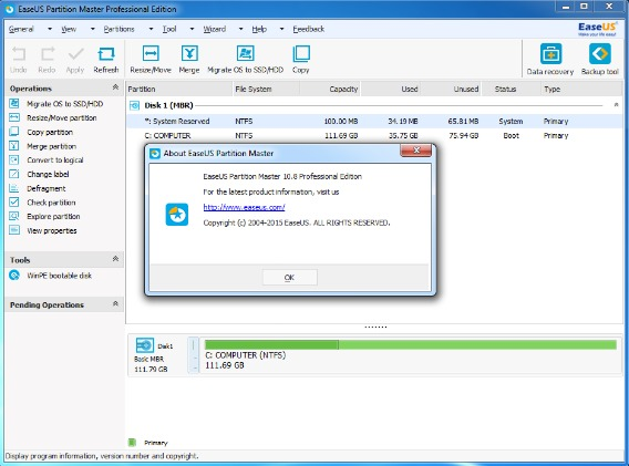 EASEUS Partition Master Professional Edition Free Download With Genuine License Serial Code