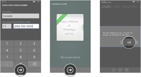 How To Download and Setup WhatsApp on Windows 10 Mobile finish
