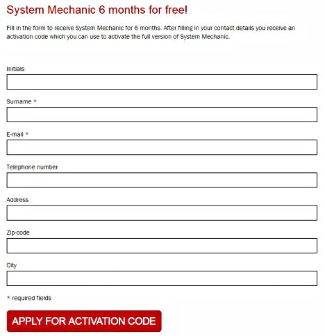 Iolo System Mechanic Free Download With 6-Months Genuine License Key Code Promo Page