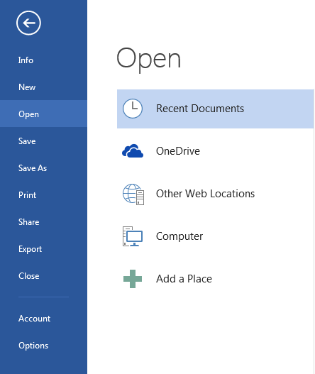 How To Disable Start Screen In Microsoft Office 2016 1