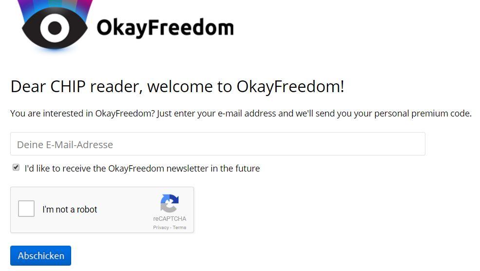 OkayFreedom VPN 1 Year Premium Code (Unlimited Traffic Volume) Free Download With Genuine License Key Code