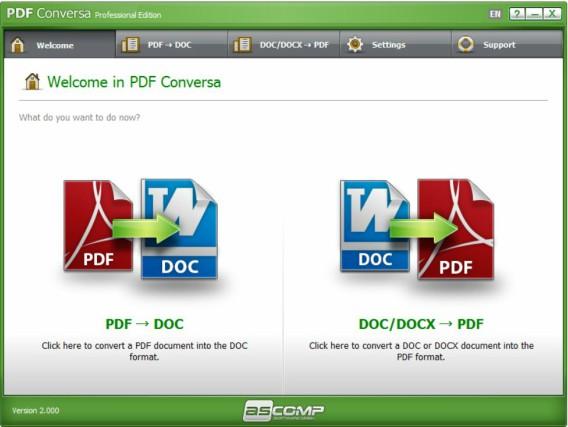 ASCOMP PDF Conversa Free Download With Genuine License