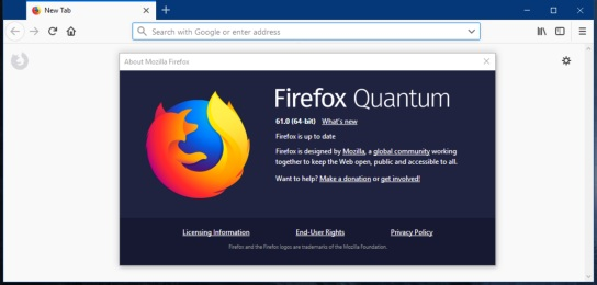 Firefox 61 Official Download With Quantum Engine to Doubled